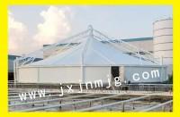 于都污水池膜结构遮阳棚已完工